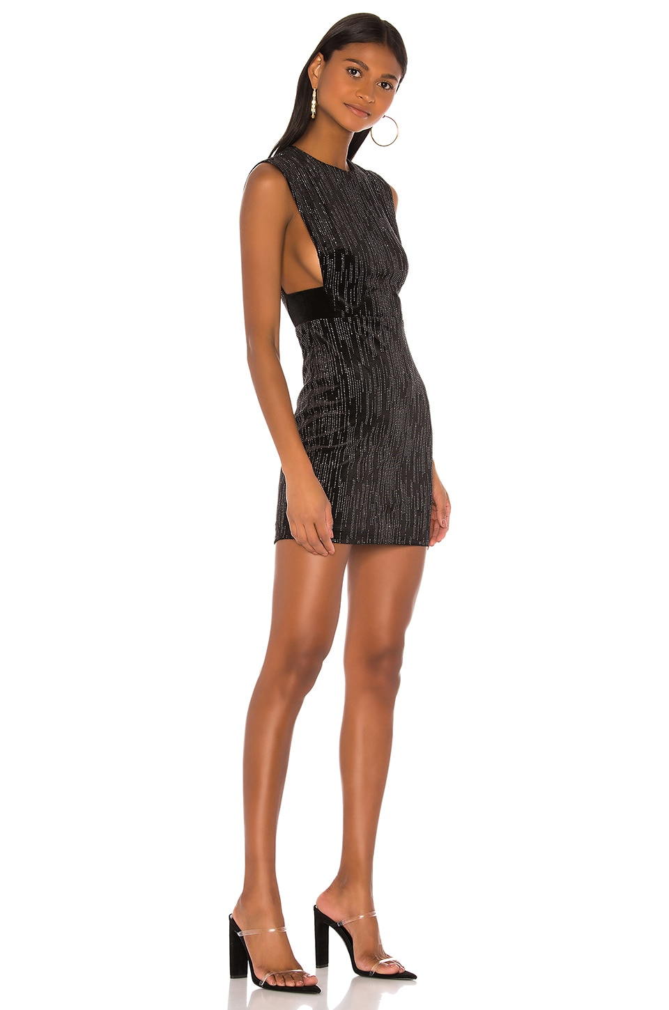 h:ours Mod Mini Dress in Black