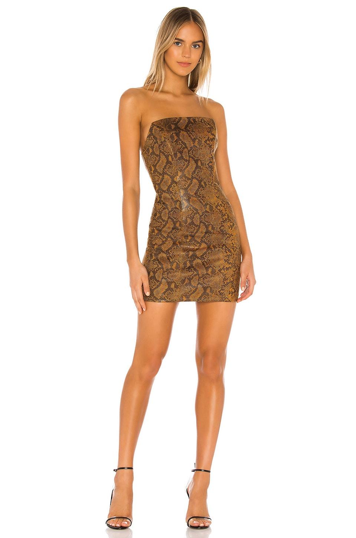 h:ours Billie Mini Dress in Mustard