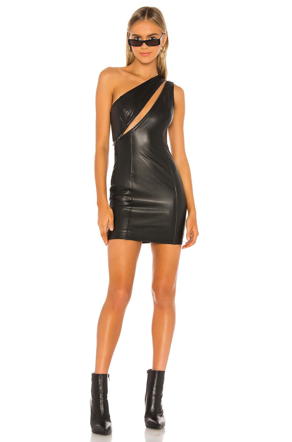 h:ours Expose Mini Dress in Black