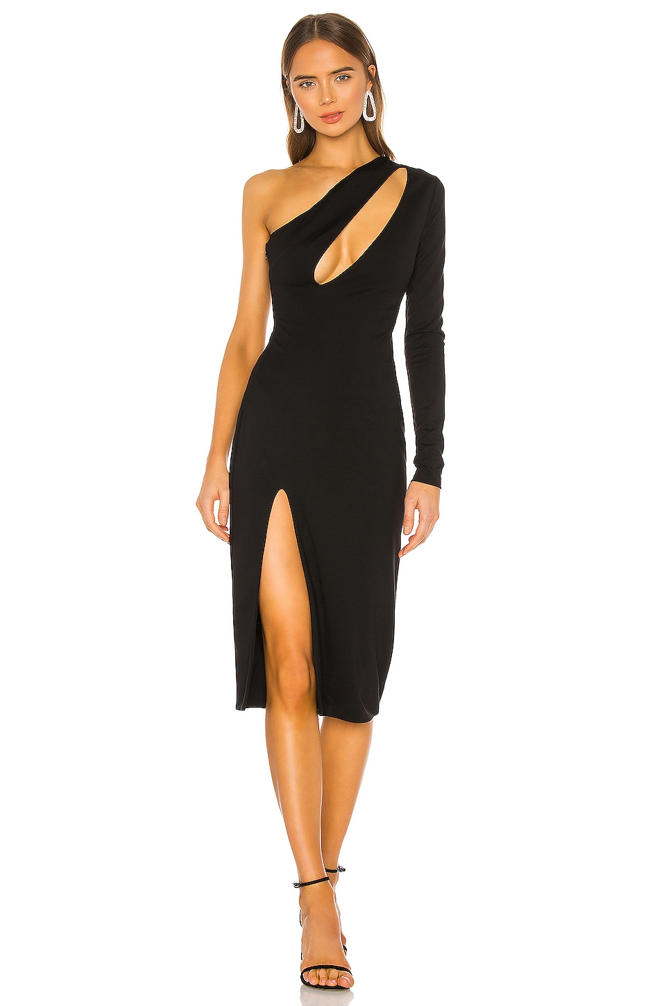 h:ours Pagne Midi Dress in Black