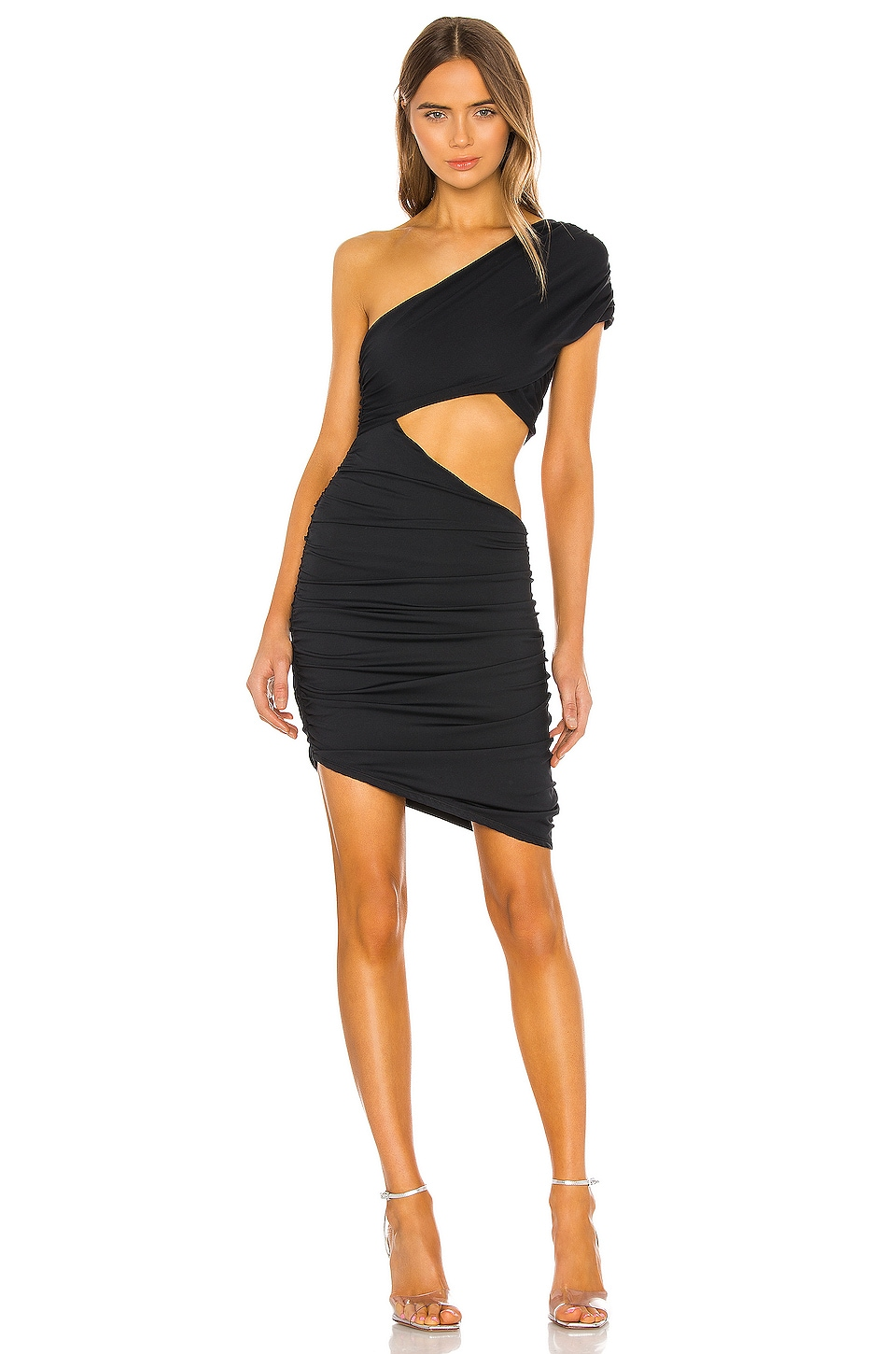 h:ours Charlize Mini Dress in Black