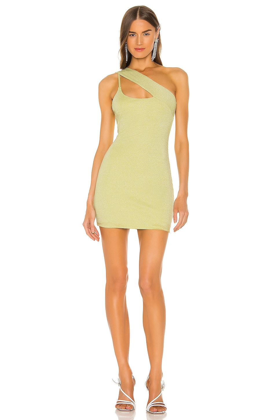 h:ours Trist Mini Dress in Yellow Green