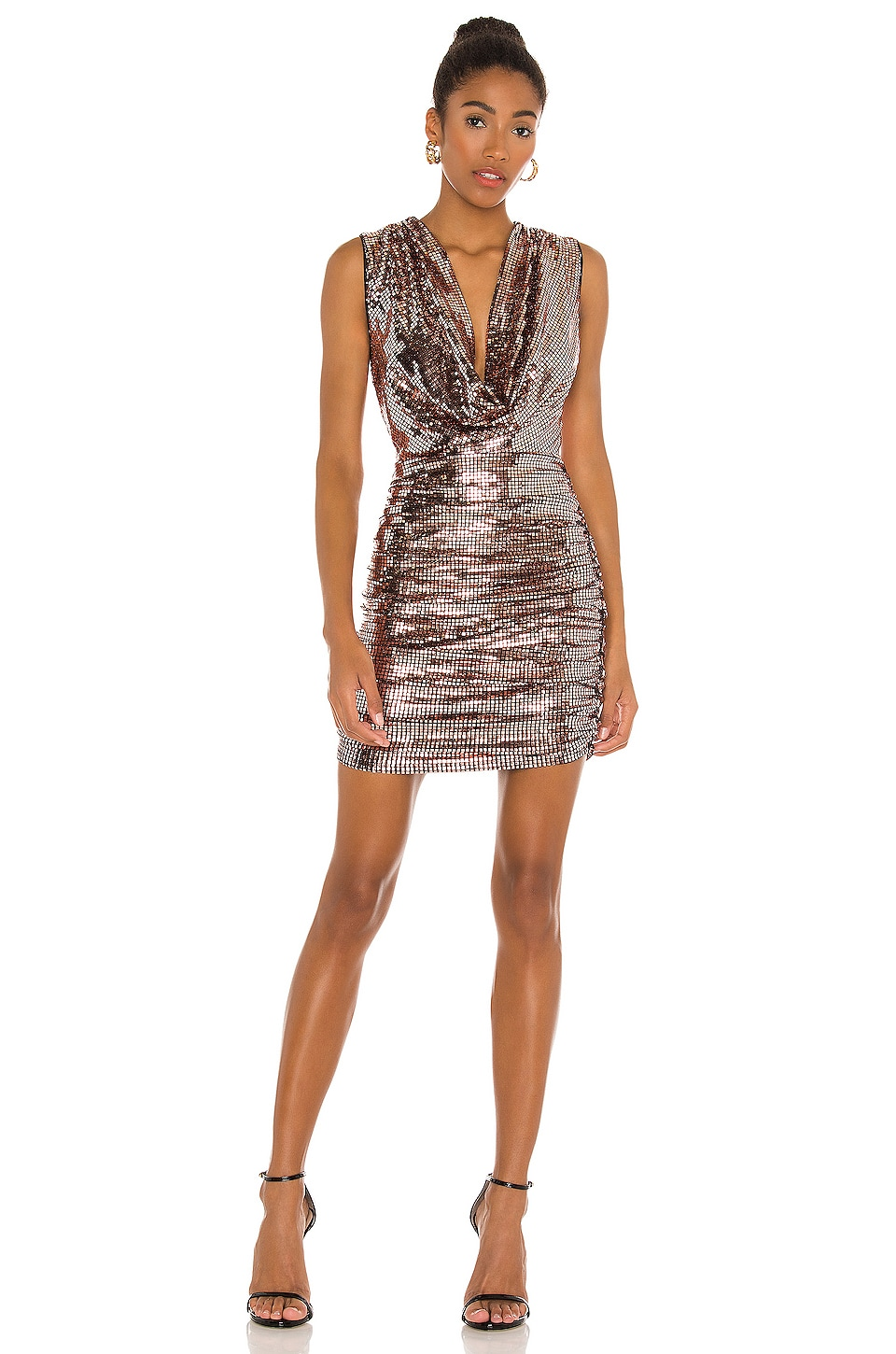 H Ours Leah Mini Dress In Rose Gold Revolve