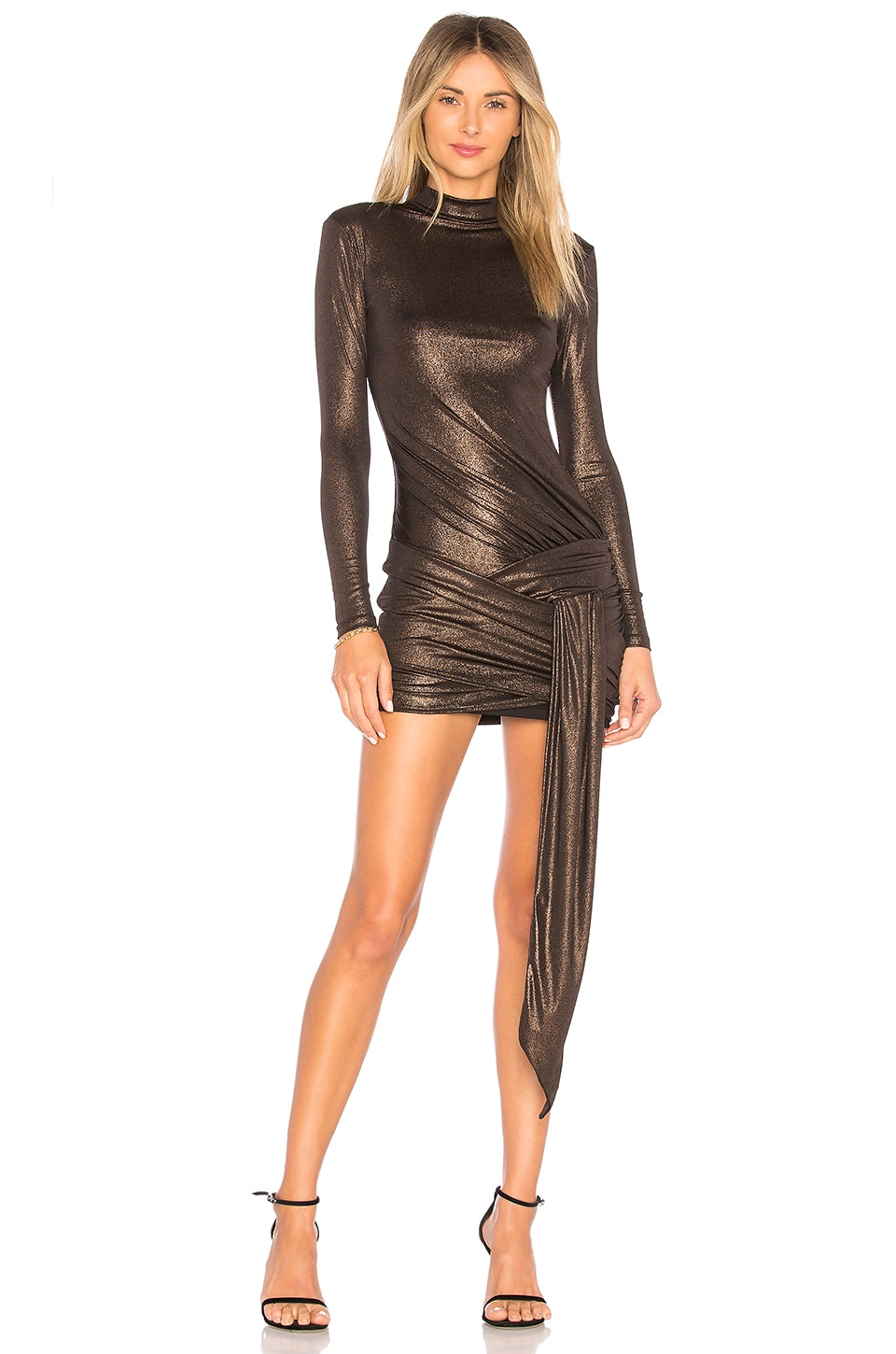 h:ours Luna Dress in Copper