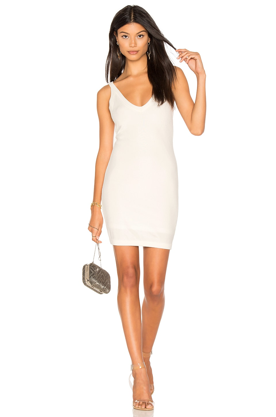 h:ours Massie Dress in Ivory