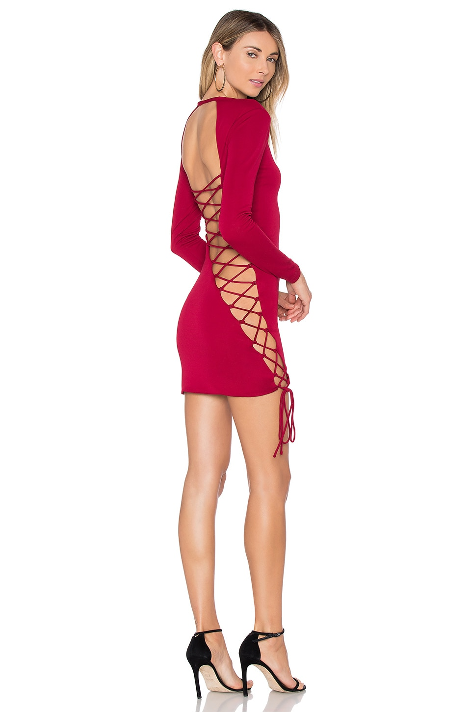 h:ours Kelsey Dress in Burgundy