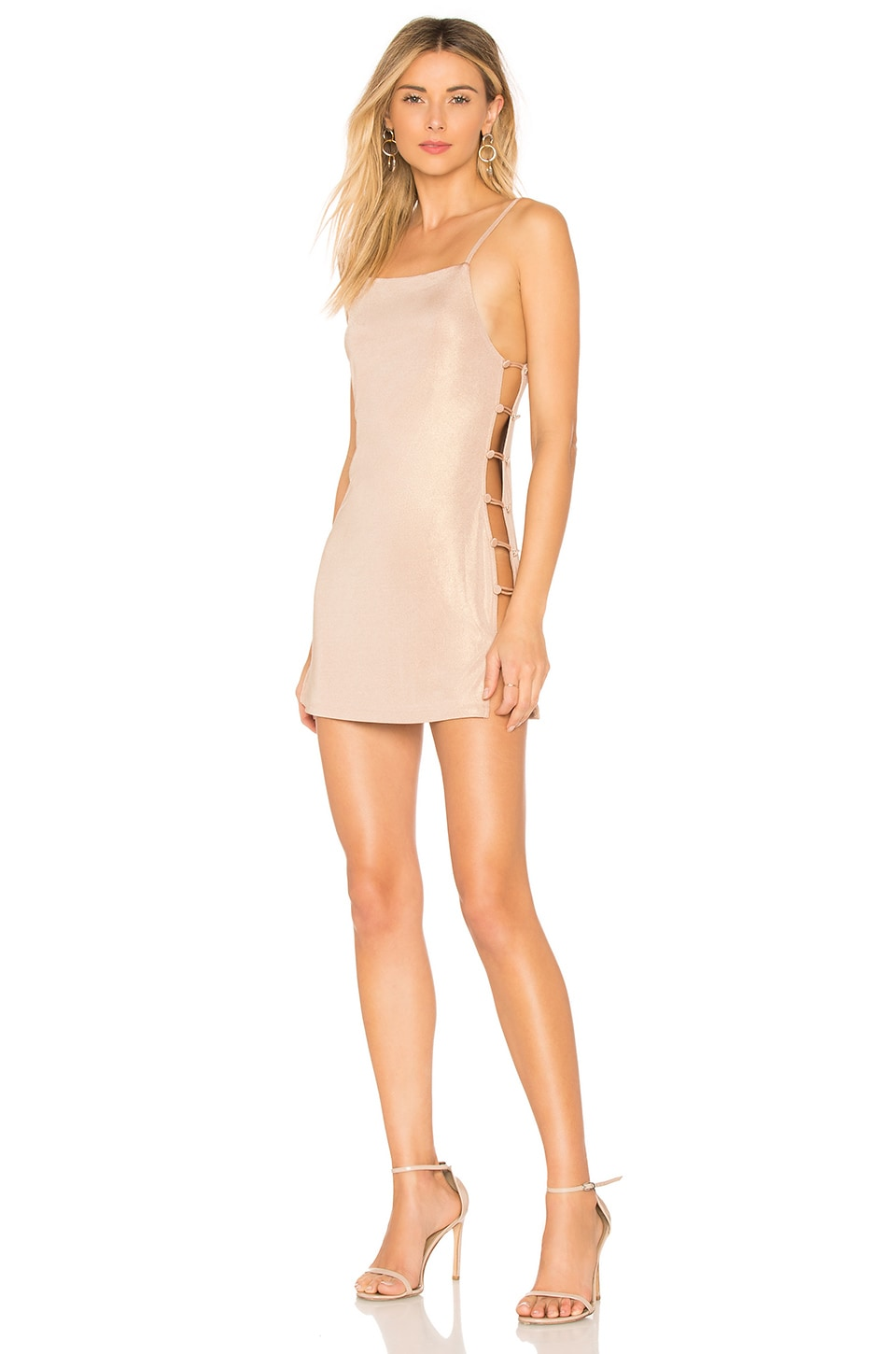 h:ours Giselle Dress in Pink Champagne