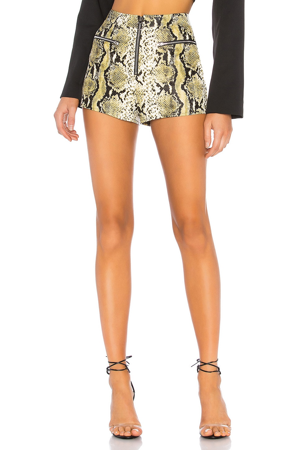 h:ours Eva Snake Shorts in Natural