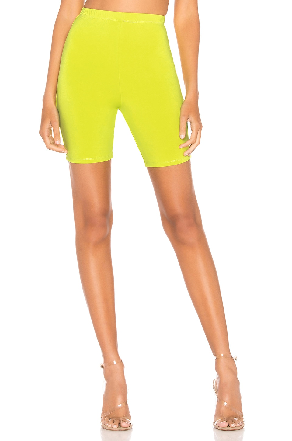 h:ours Her Biker Shorts in Neon Yellow
