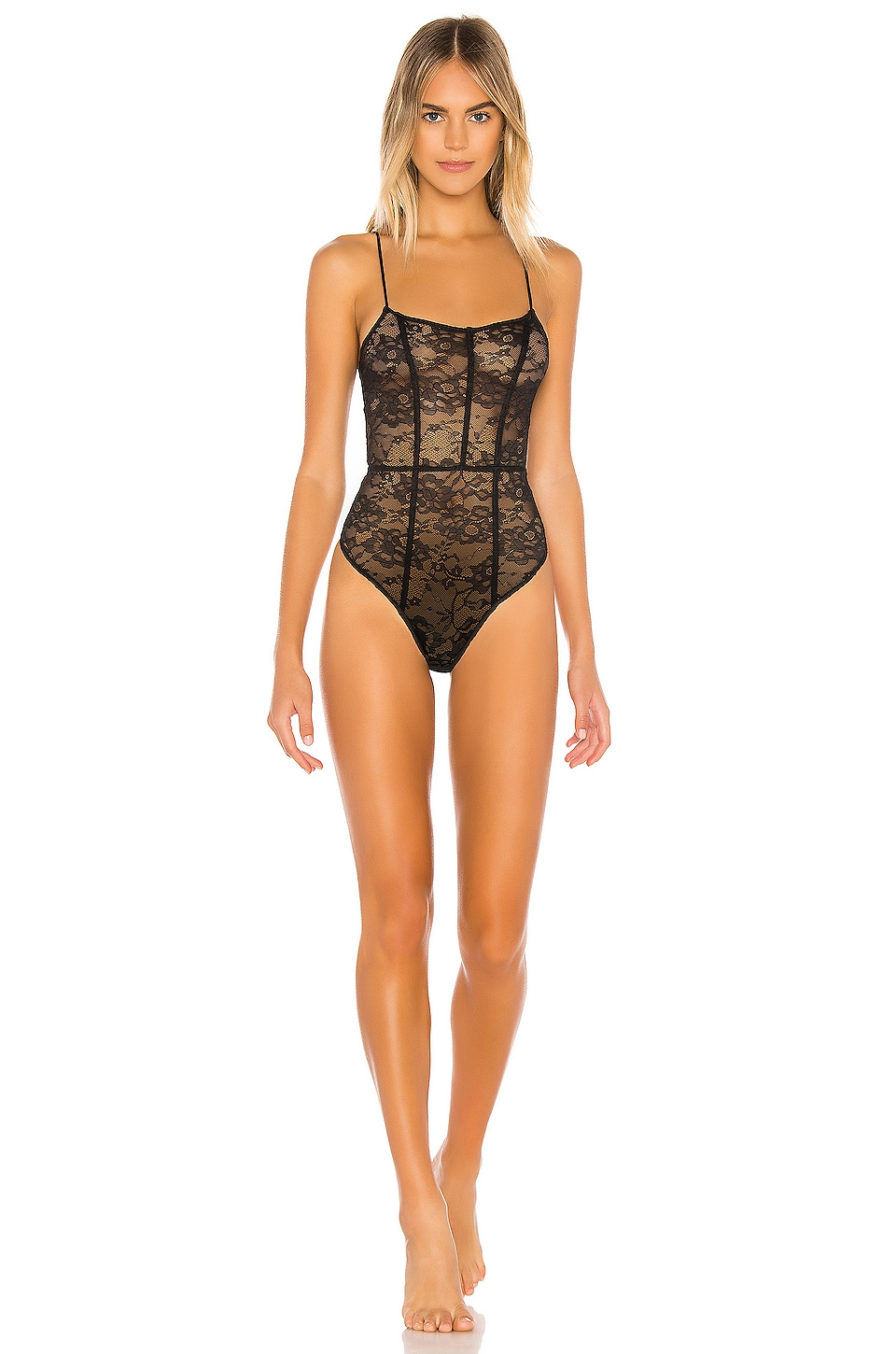 h:ours Arlo Bodysuit in Black