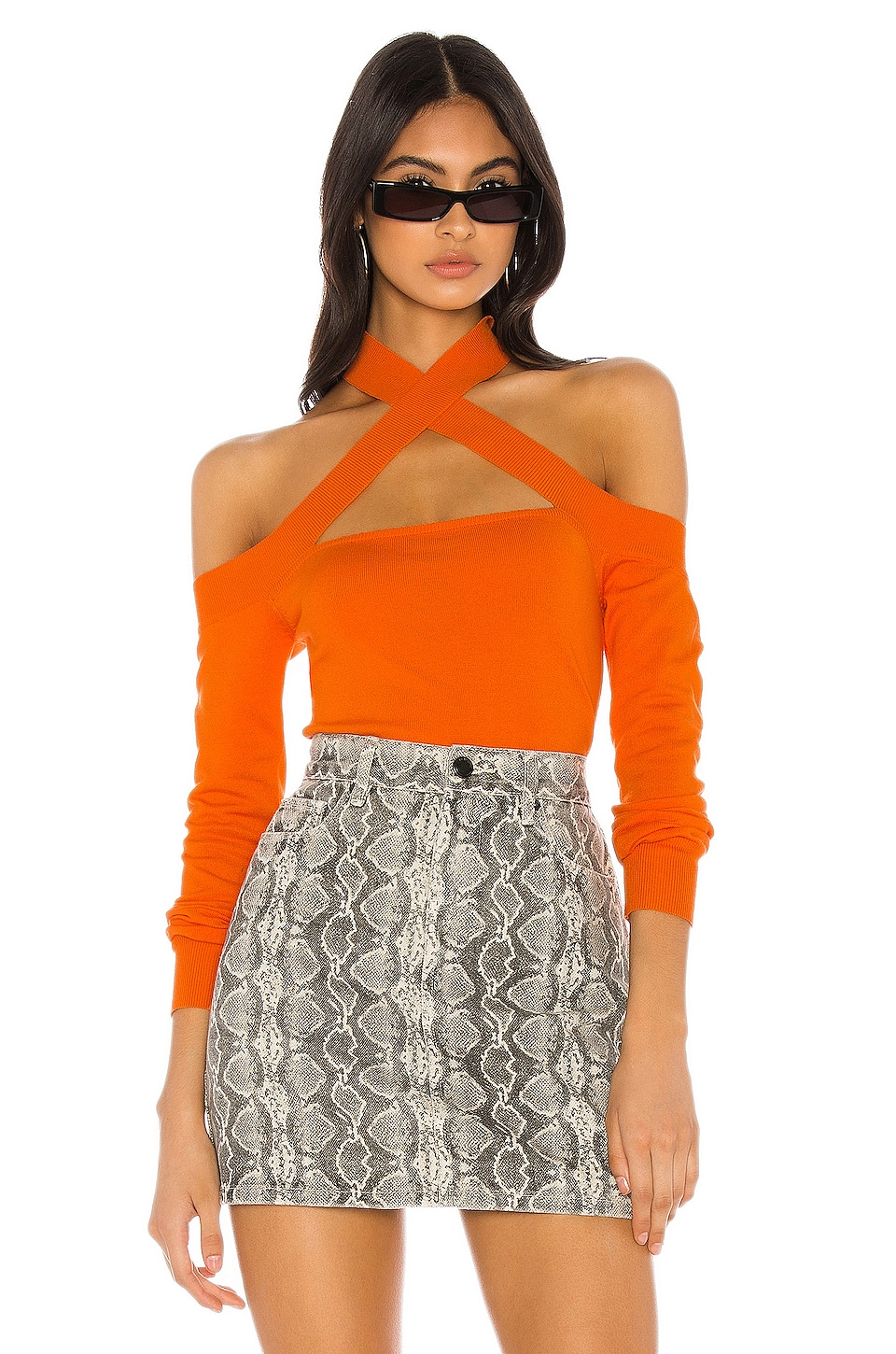 h:ours Allison Sweater in Orange