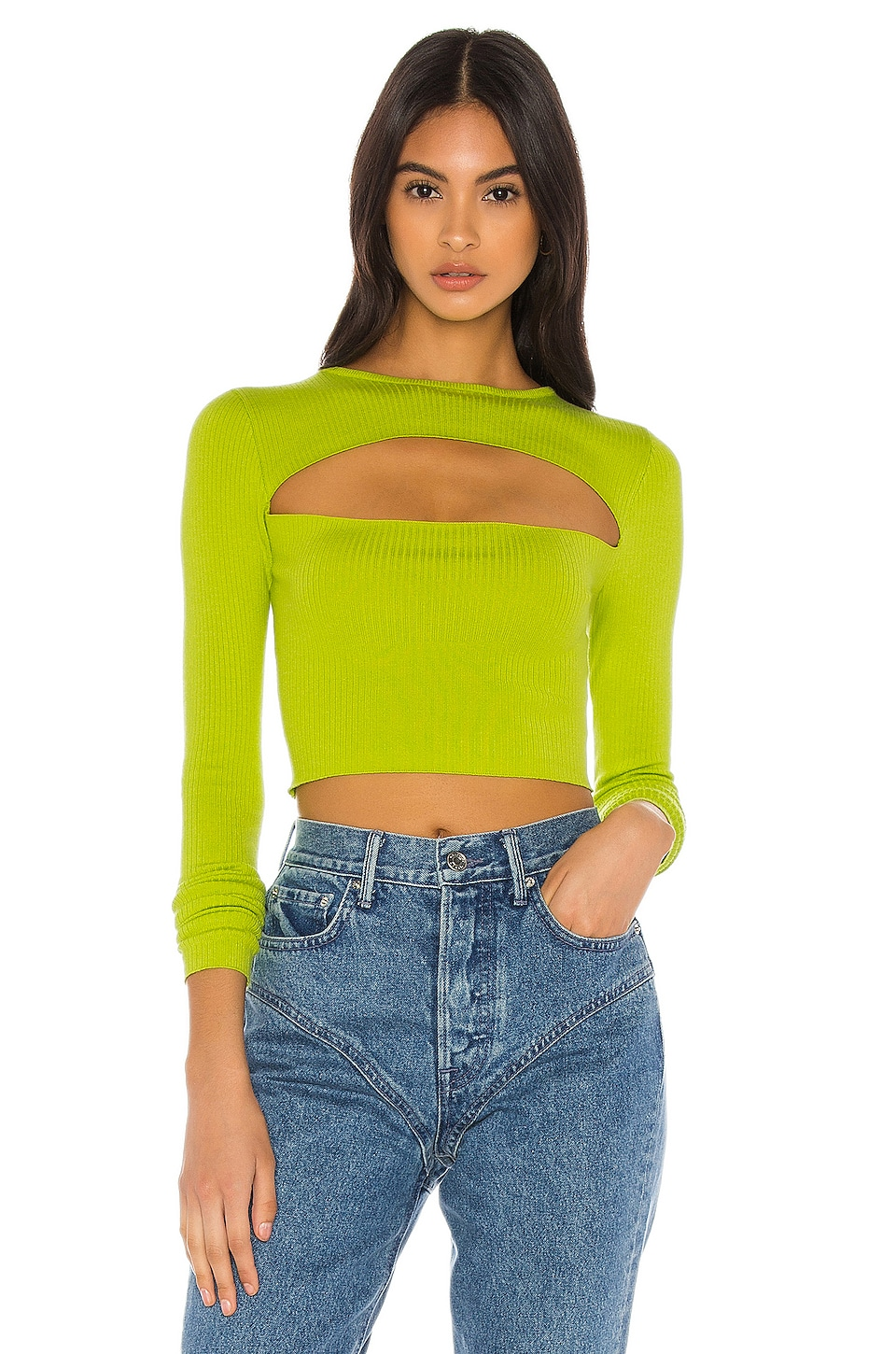 h:ours Kiko Sweater in Lime Green