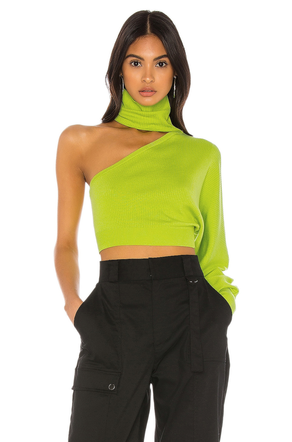 h:ours Lydia Sweater in Lime Green