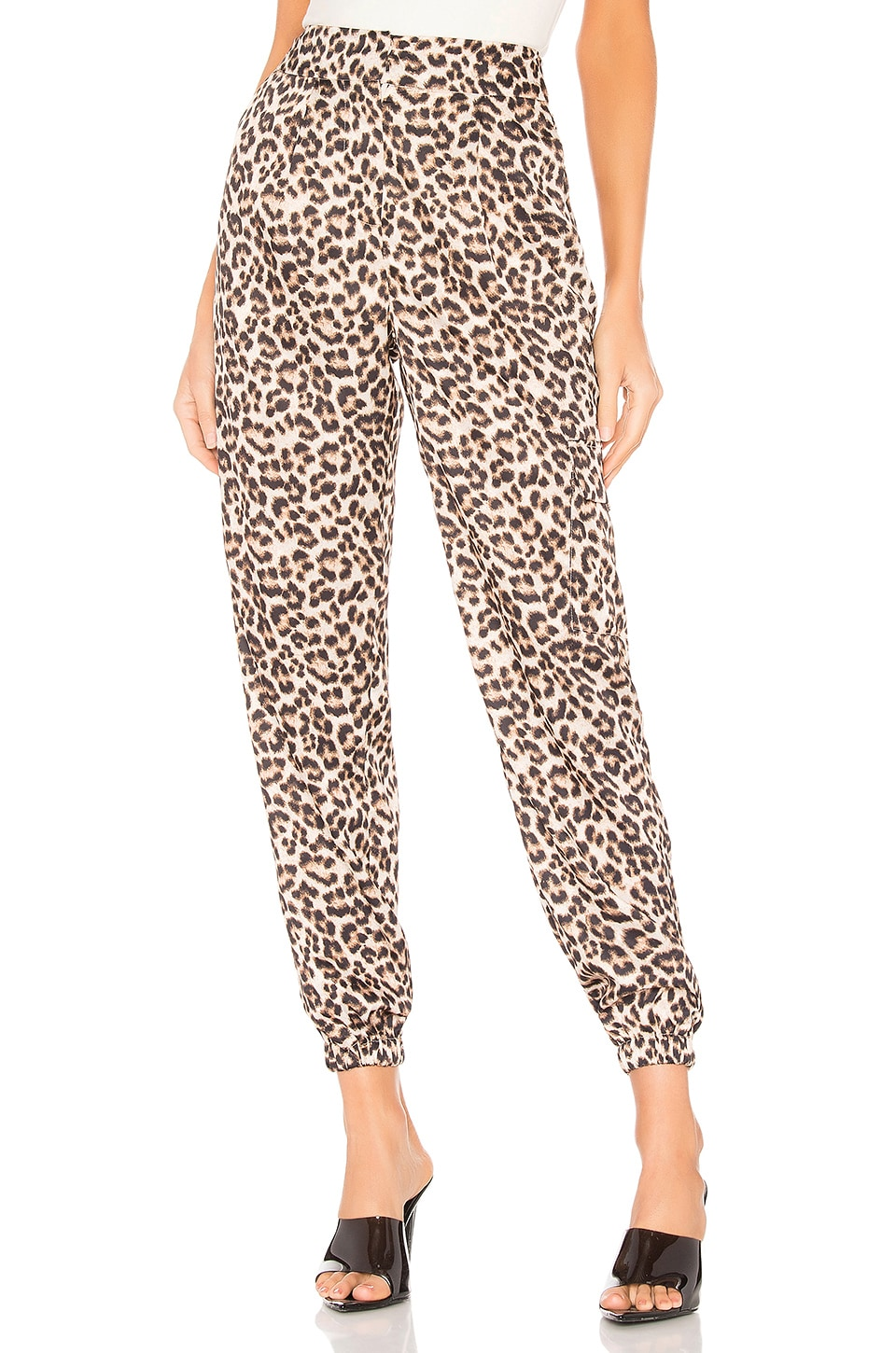 h:ours Elysa Pants in Leopard