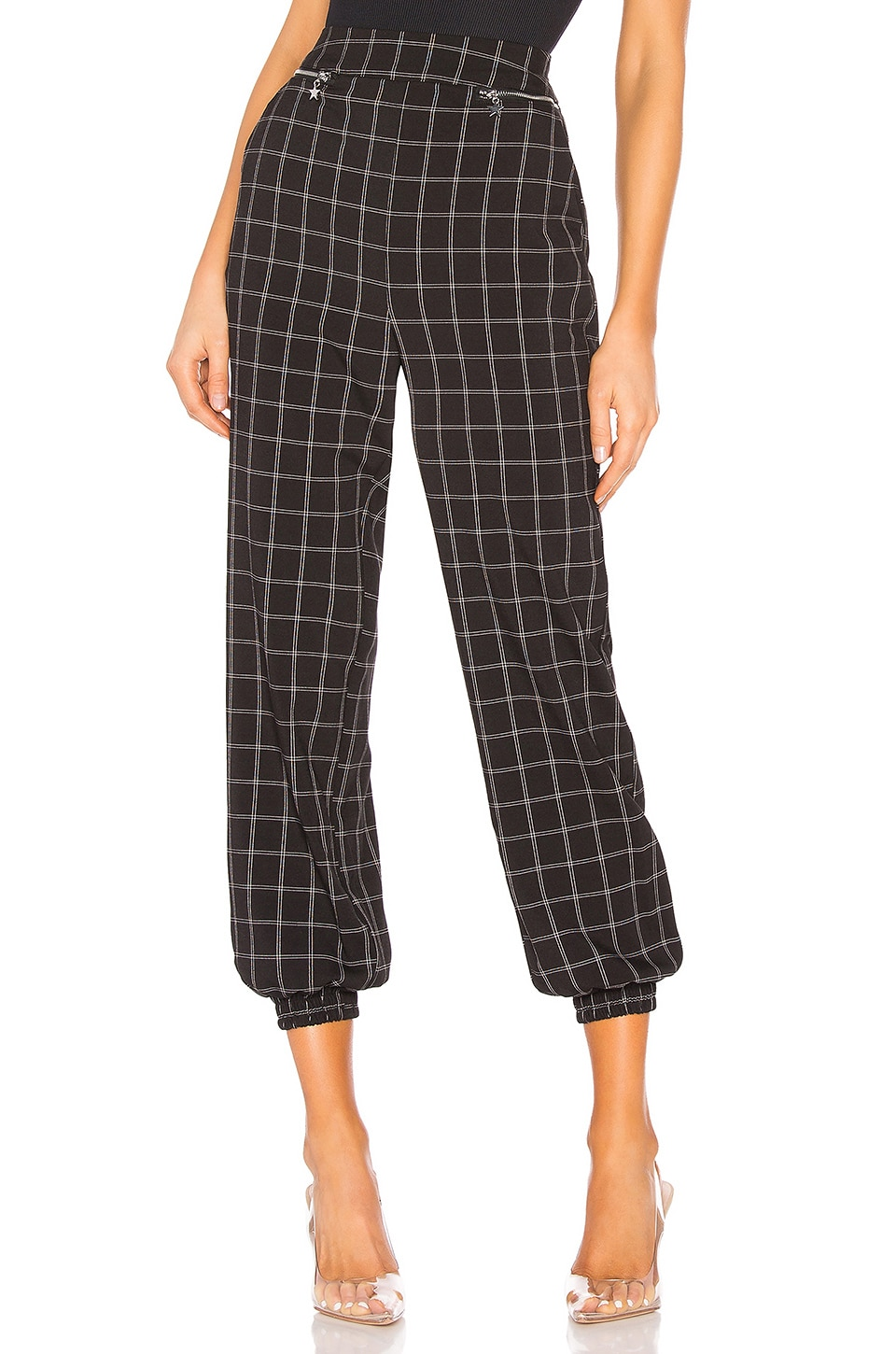 h:ours Regina Pant in Black & White