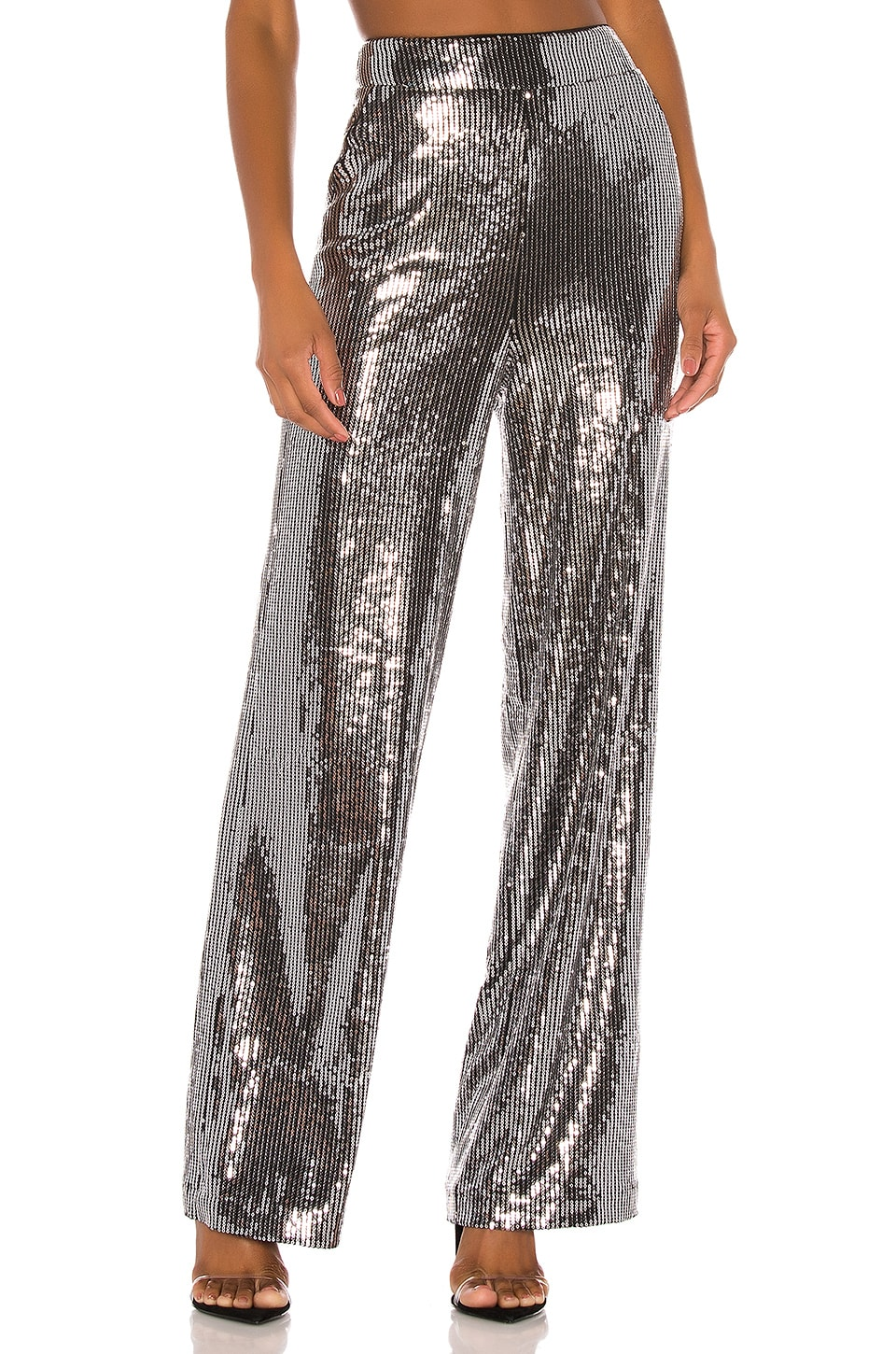 h:ours Temple Pants in Silver