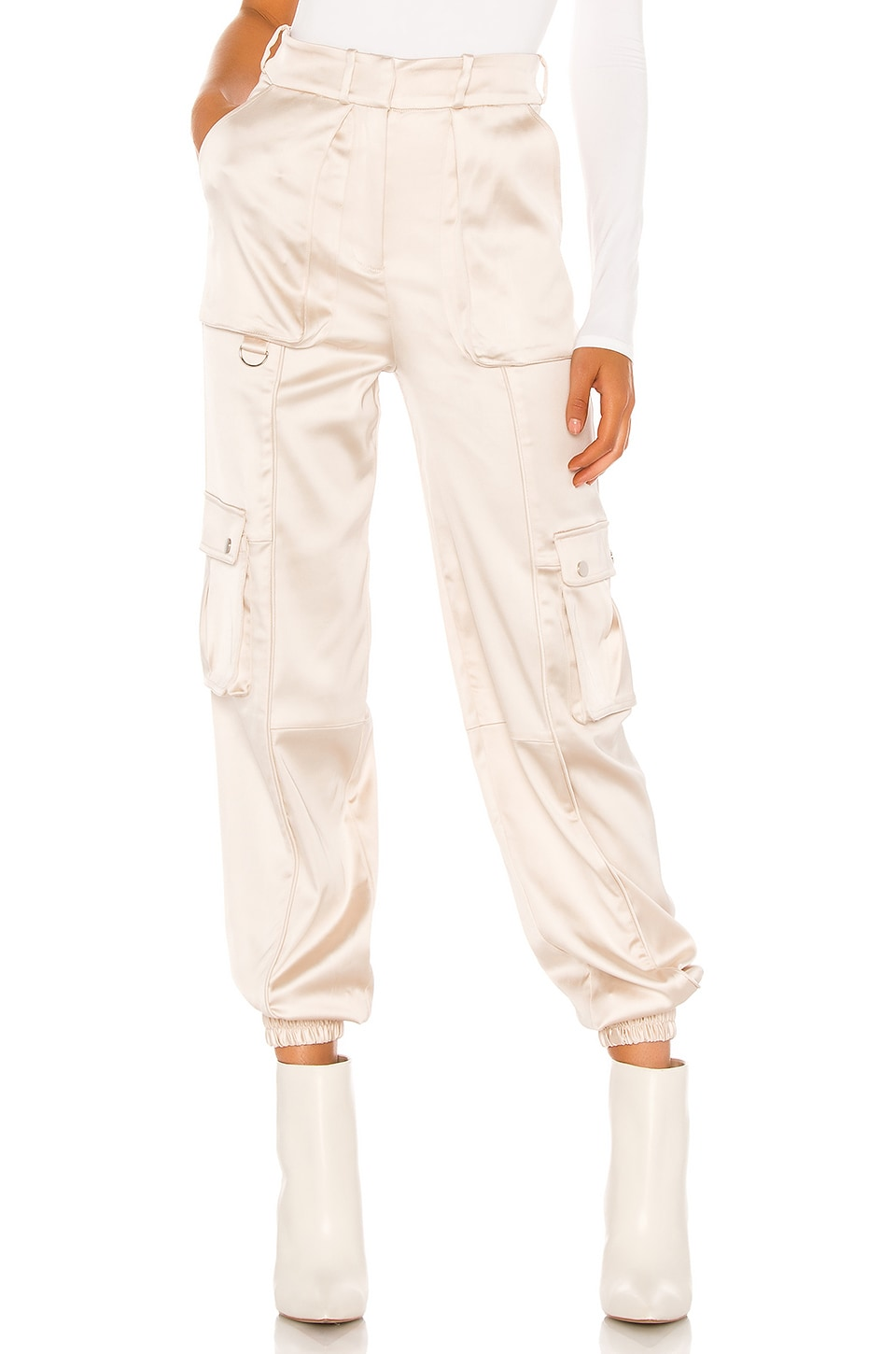 h:ours Port Joggers en Nude Champagne
