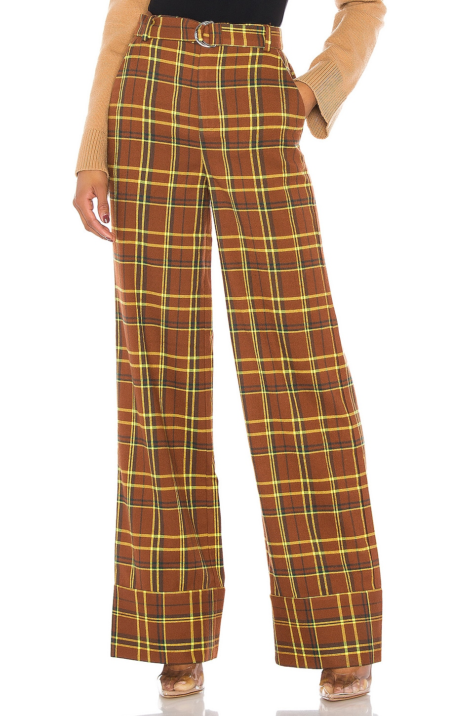h:ours Brooklyn Trousers in Brown Plaid
