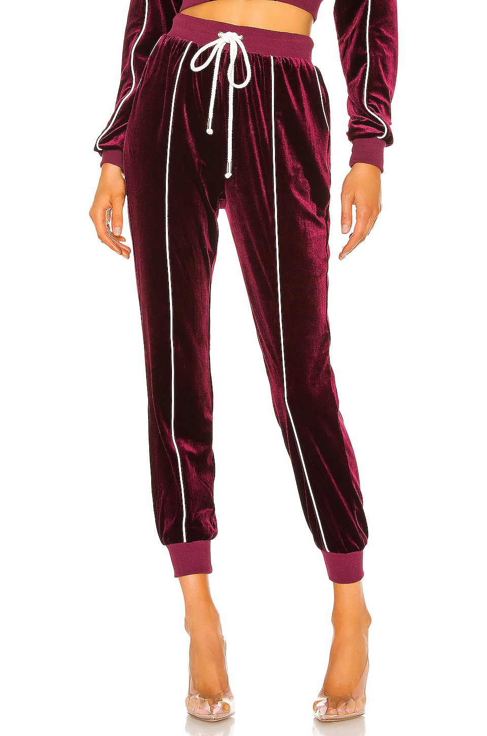 h:ours See You Joggers en Burgundy