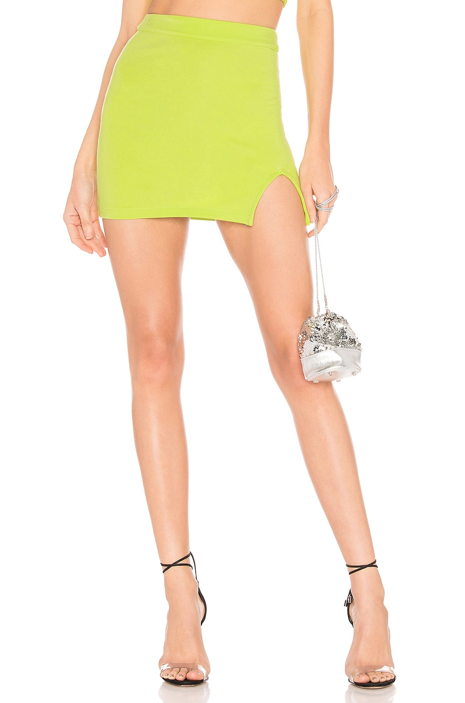 h:ours Clayton Skirt in Lime Green