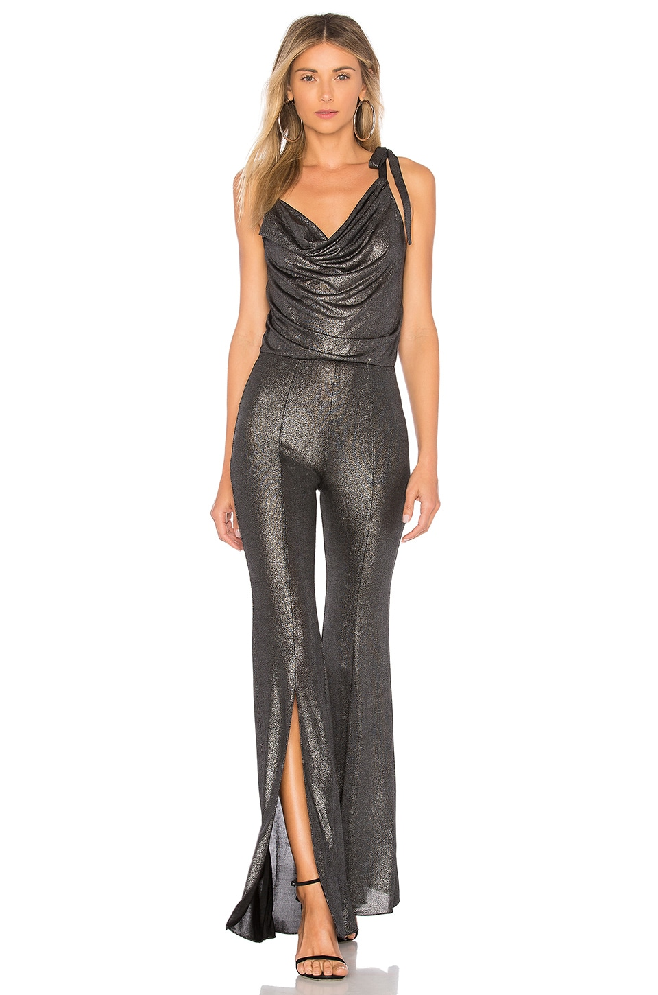h:ours Marlow Jumpsuit in Gunmetal