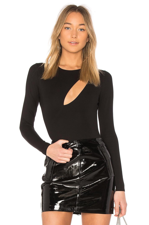h:ours Skye Bodysuit in Black