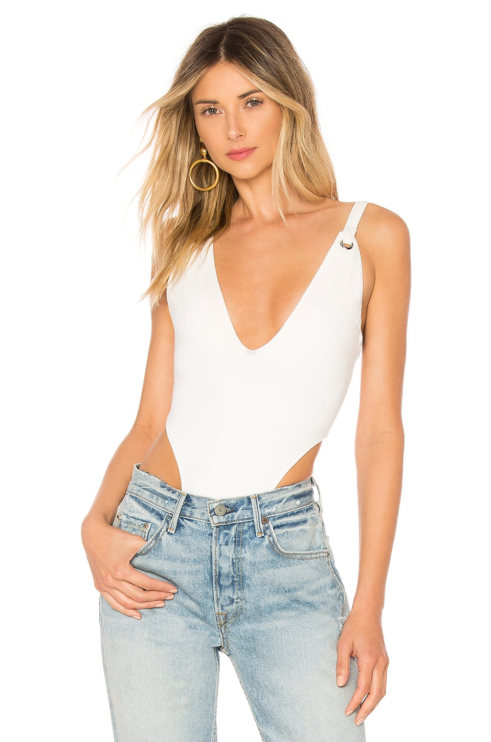 h:ours Mundo Bodysuit in Ivory