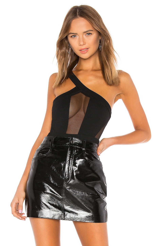 h:ours Hale Bodysuit in Black