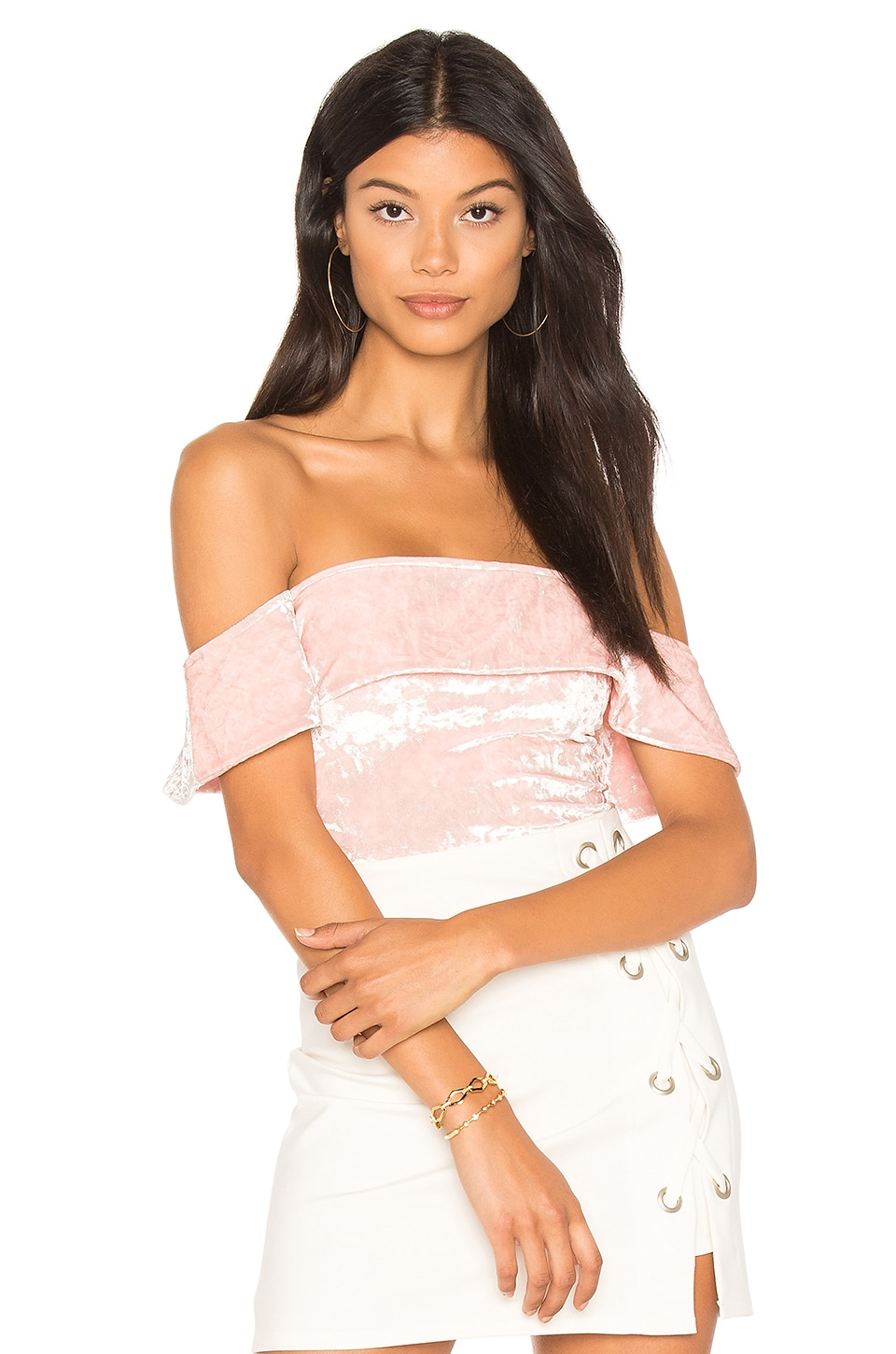 Off Shoulder Cheeky Bodysuit by H:Ours
