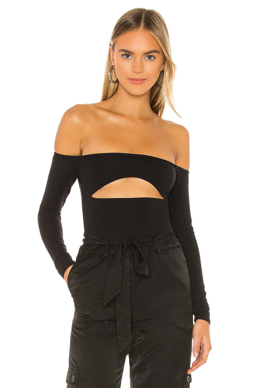 h:ours Appeal Bodysuit in Black