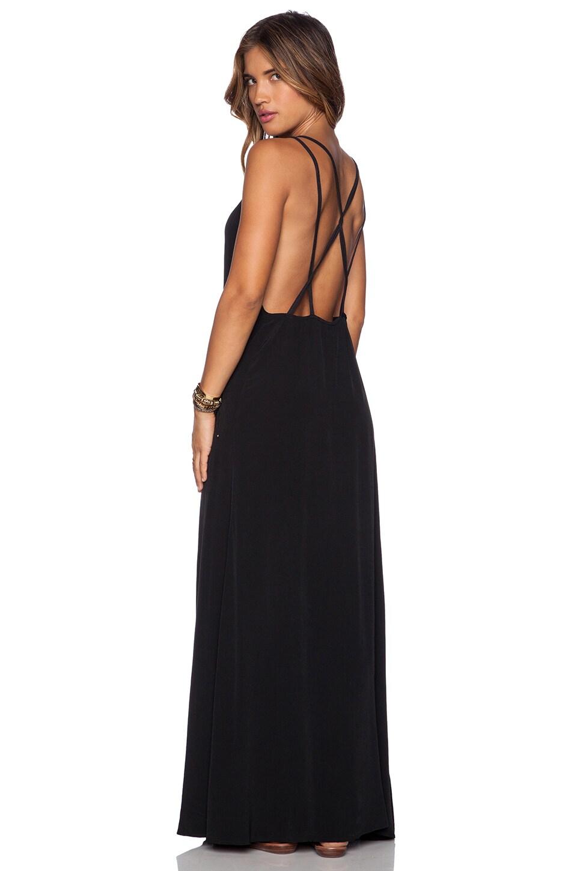 ISLA_CO Barefoot Maxi Dress in Black