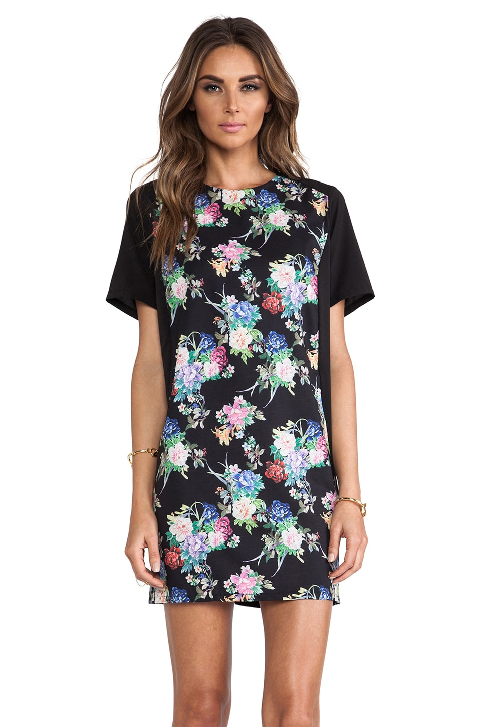 ISLA_CO Ever True T-Shirt Dress in Rosa Print