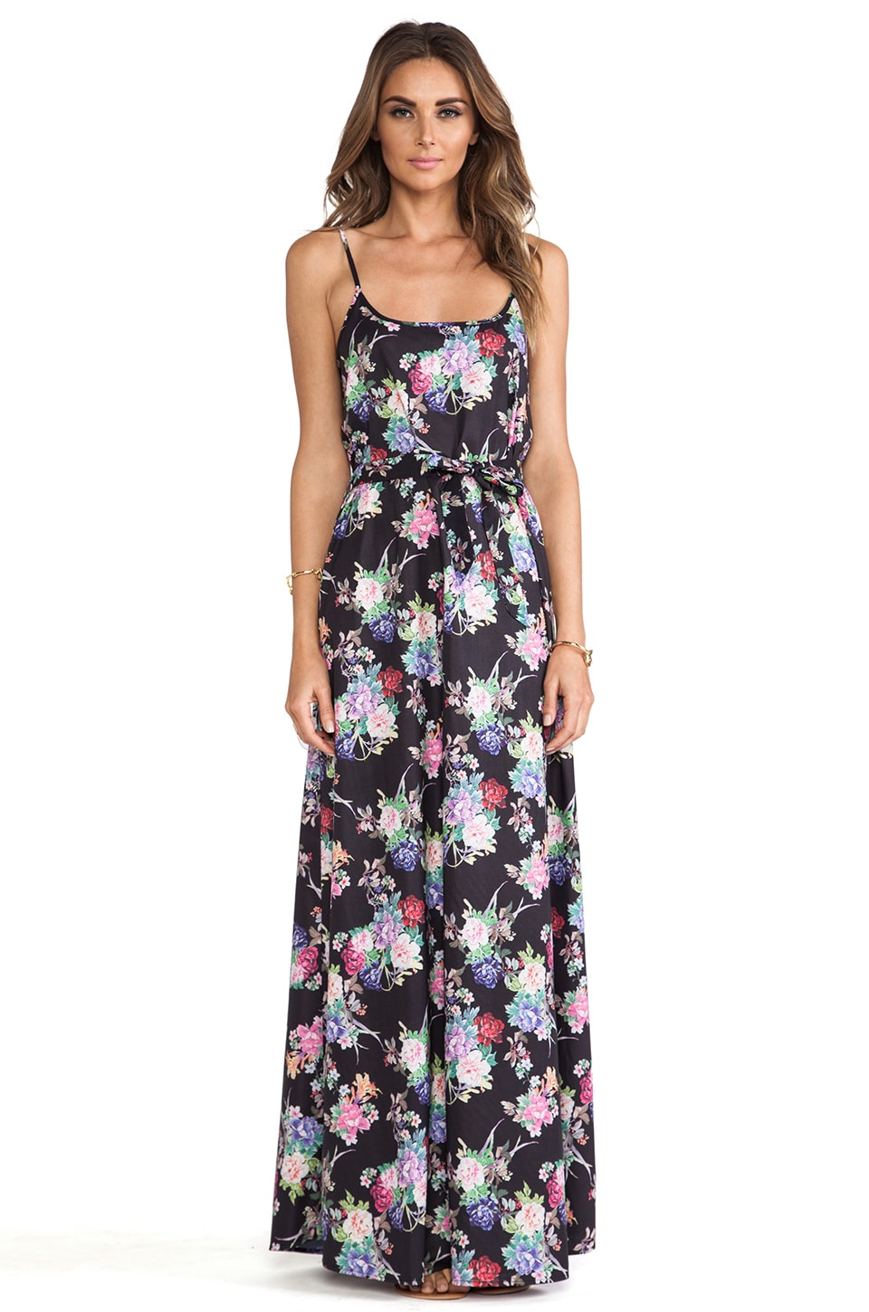 ISLA_CO Lush Layers Maxi Dress in Rosa Print