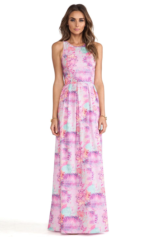 ISLA_CO Ivory Gate Maxi Dress in Petal Print