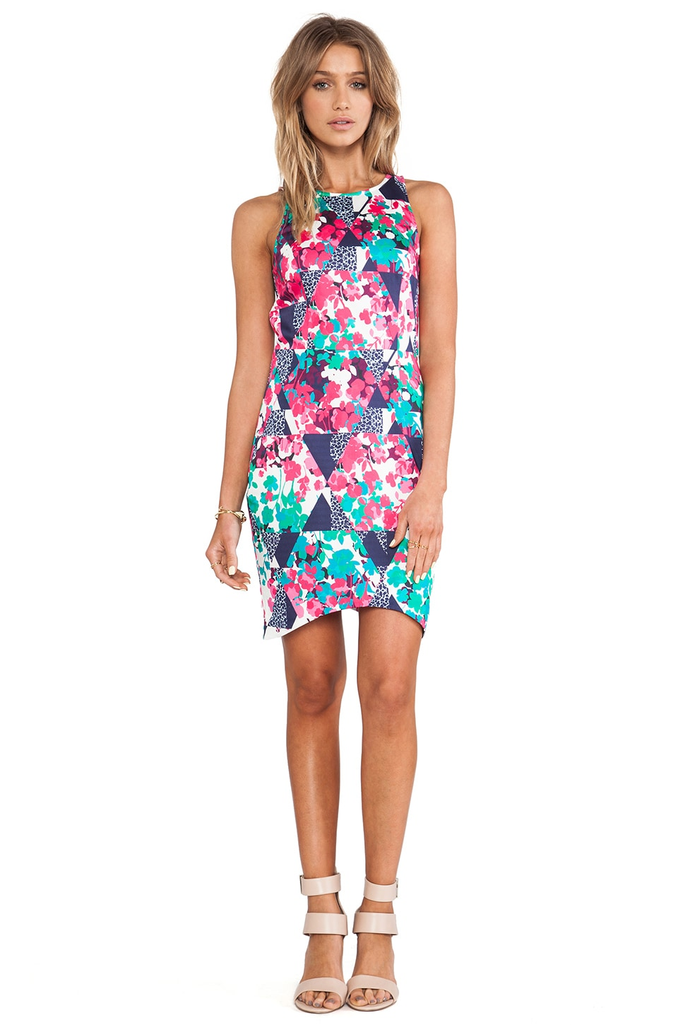 ISLA_CO Fern Vine Dress in Kaleidoscope Print