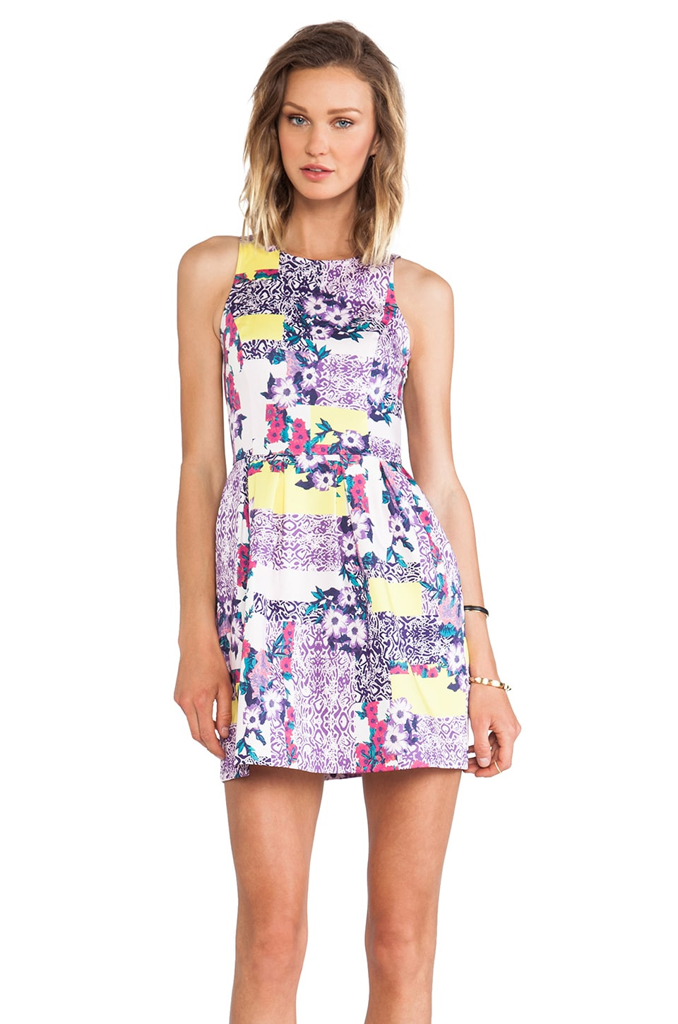ISLA_CO Always Smiling Dress in Geo Pansy Print