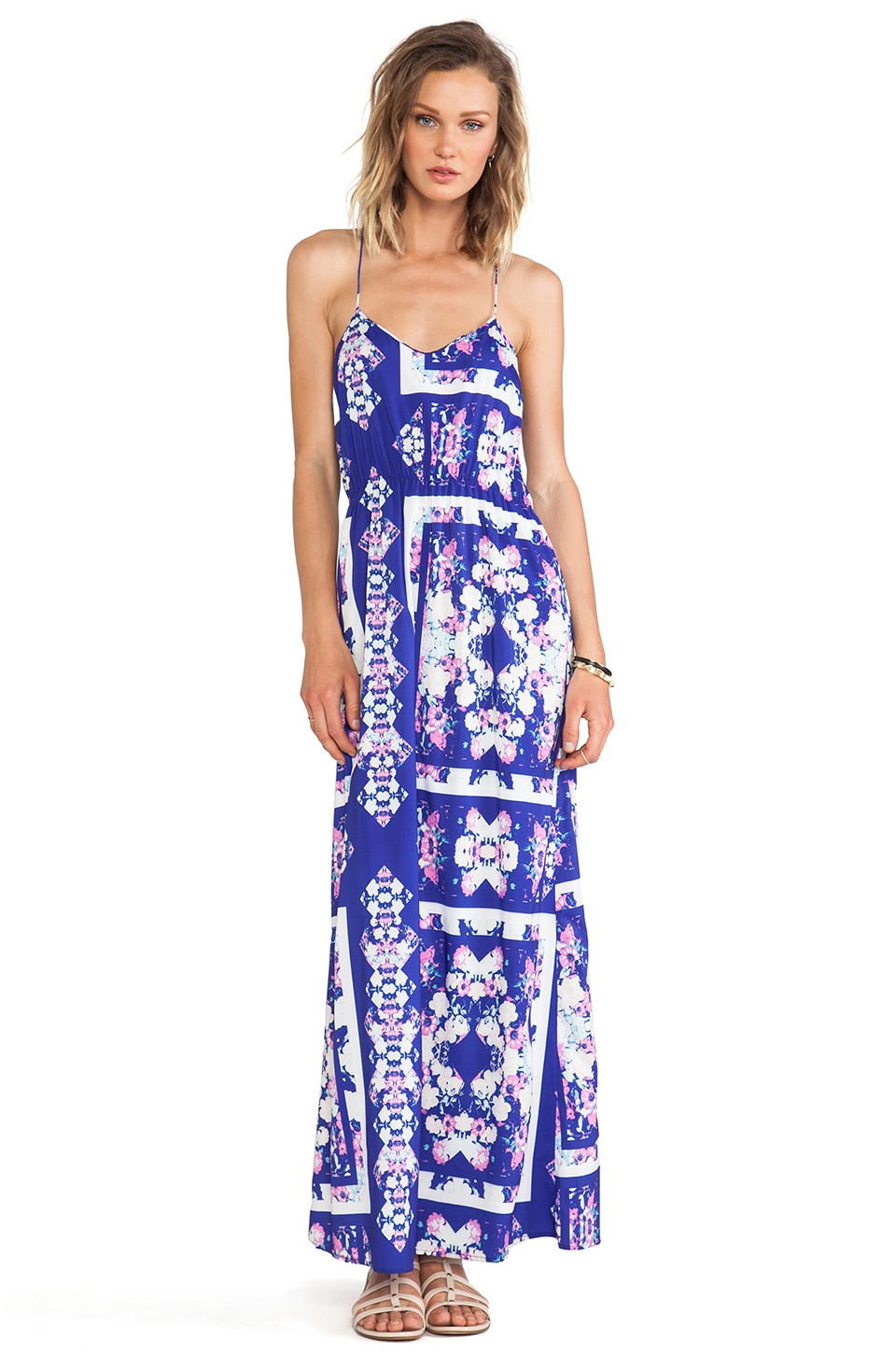 ISLA_CO Bright Dew Maxi Dress in Floral Glass Print