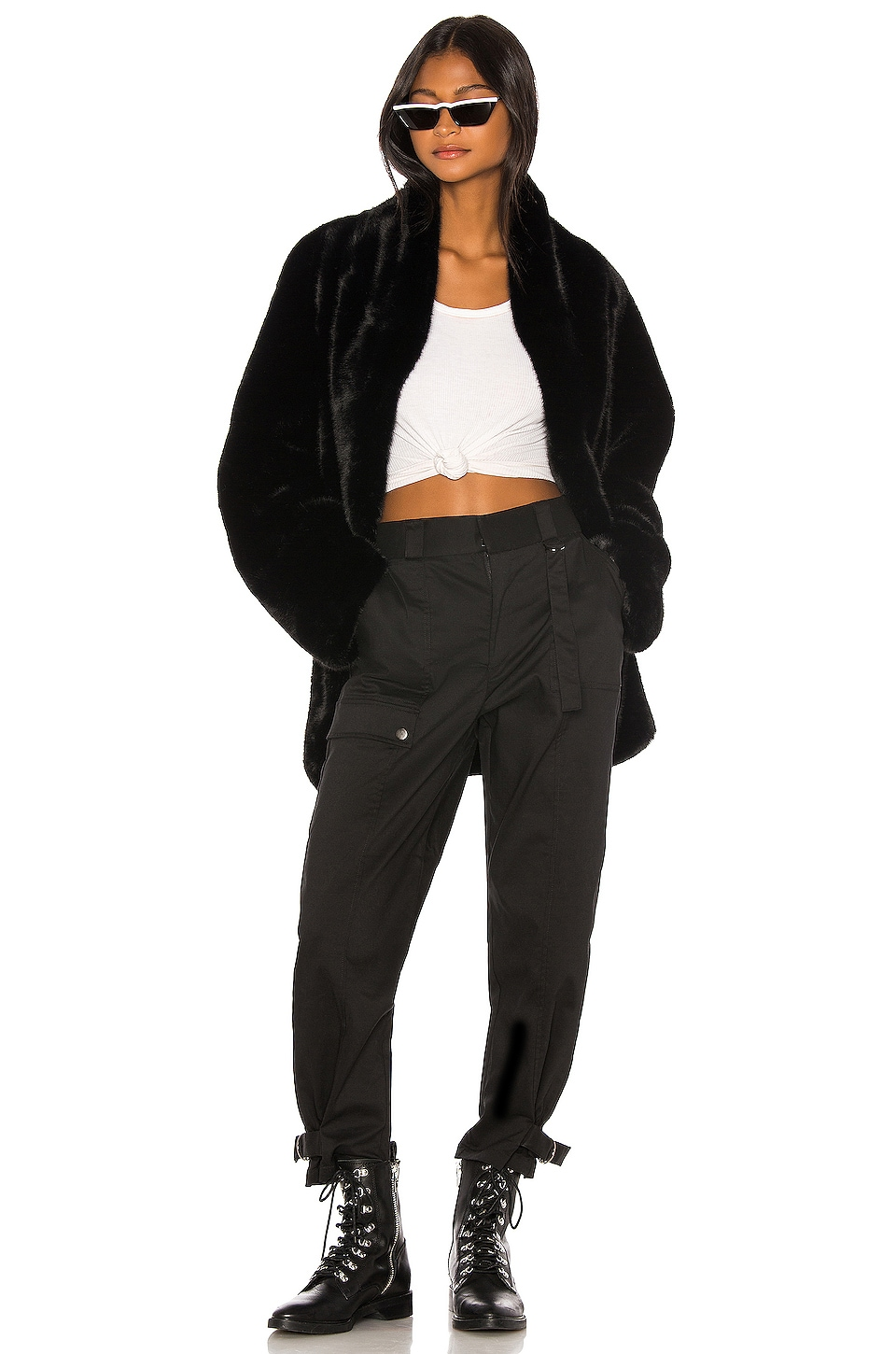 I.AM.GIA Nya Faux Fur Jacket in Black