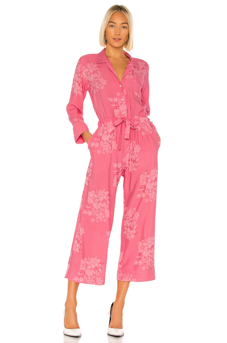 ICONS Objects of Devotion Draper Jumpsuit in Shadow Rose