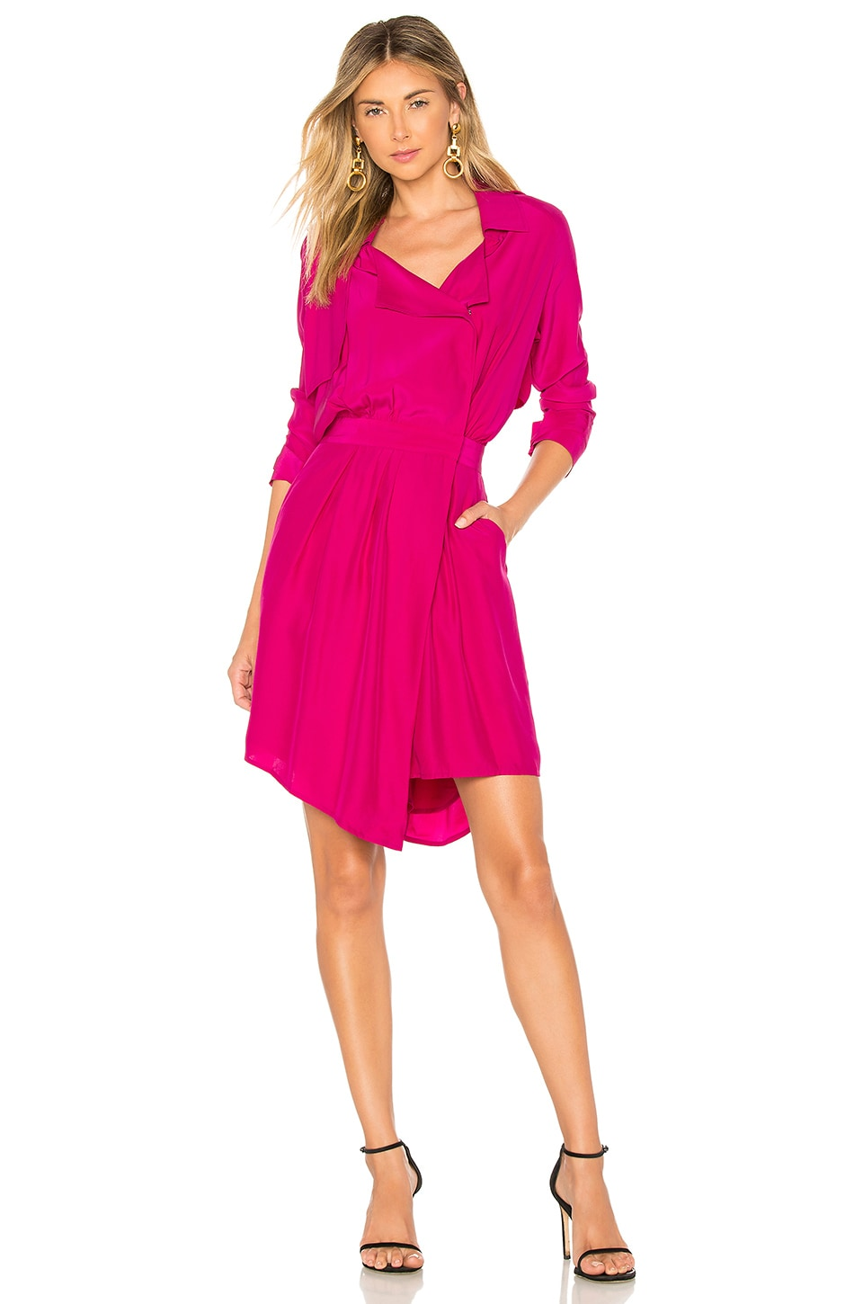 ICONS Objects of Devotion The Trench Dress in Fuchsia
