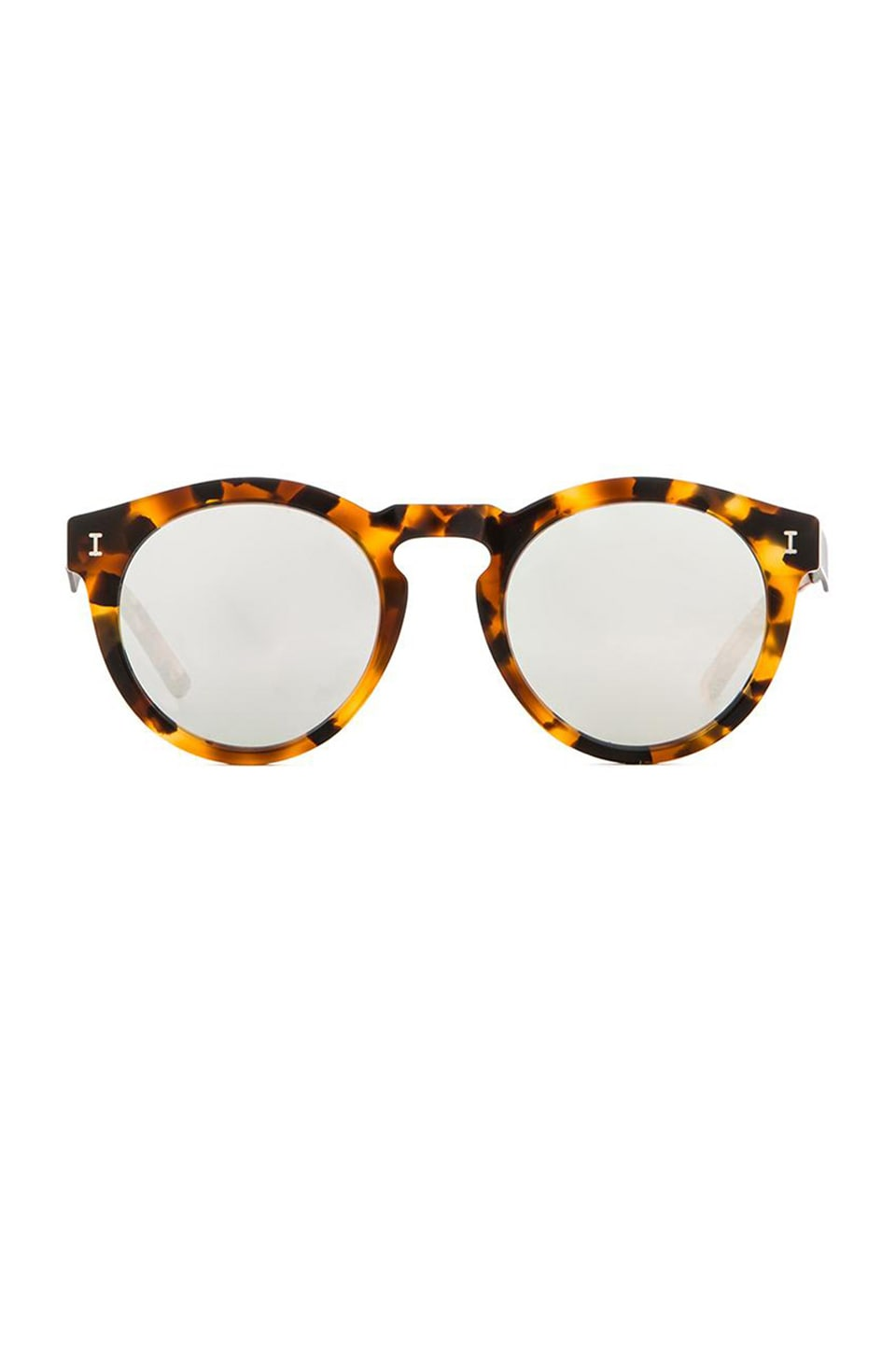 illesteva Toohey in Light Tortoise & Silver Mirror