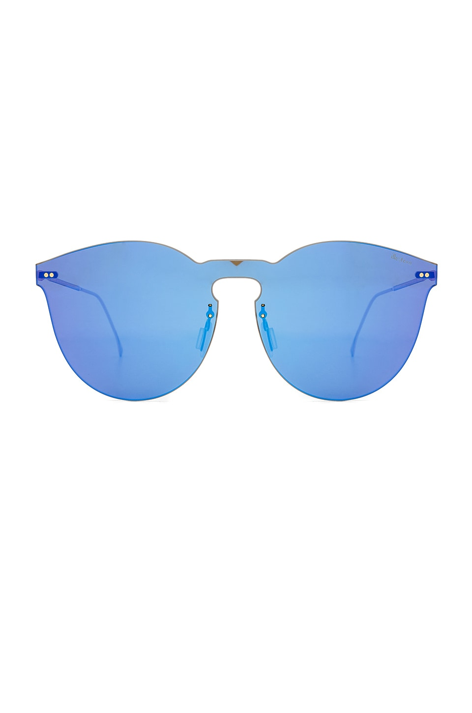 illesteva Leonard II Mask Sunglasses in Royal Blue