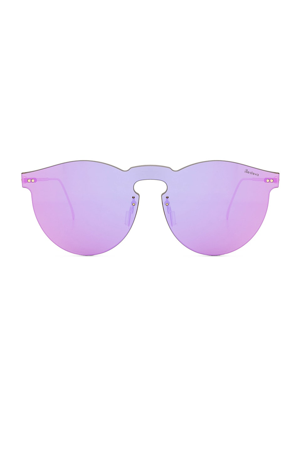 illesteva Leonard Mask Sunglasses in Pink