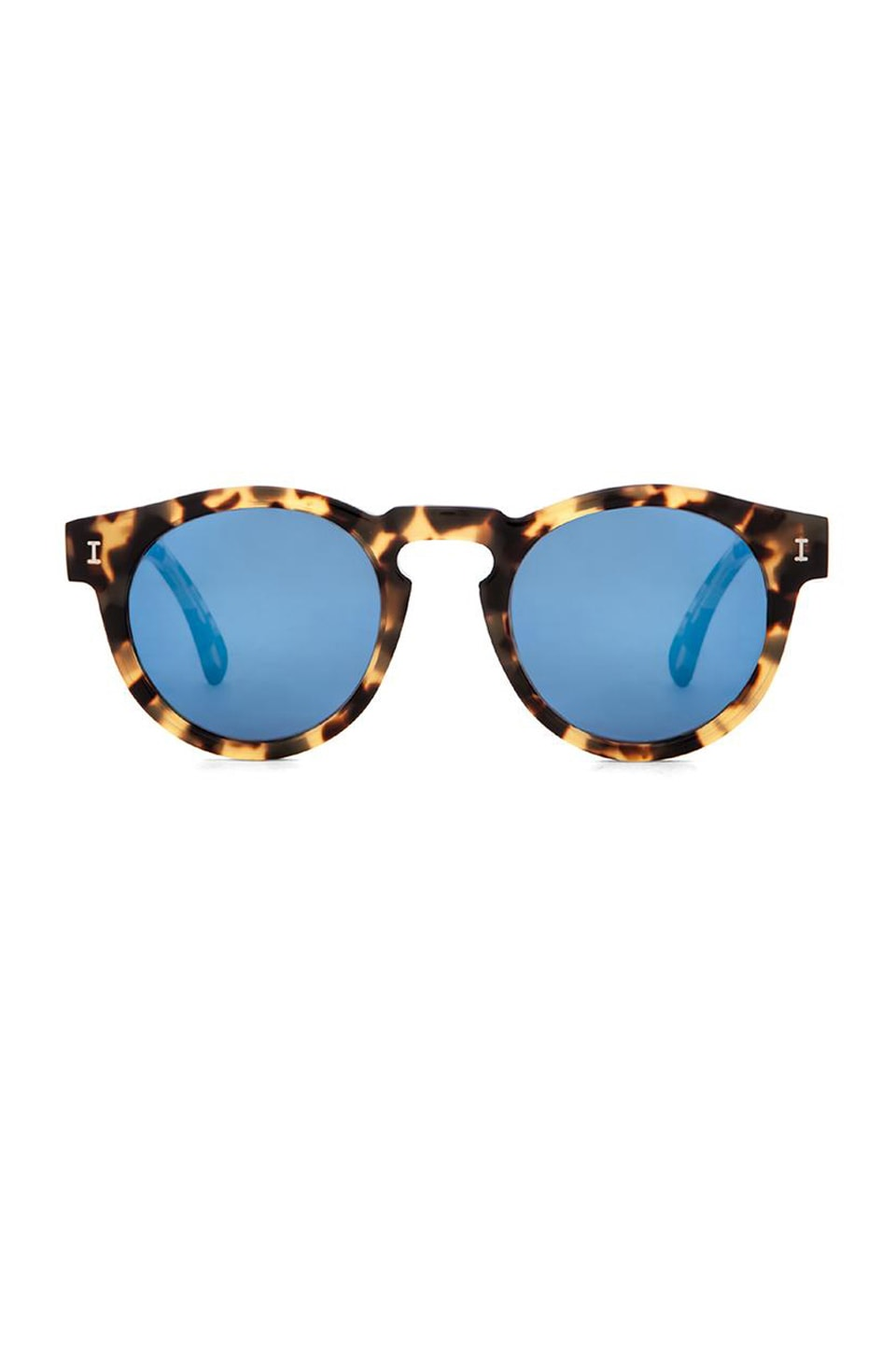 illesteva Leonard in Tortoise & Blue Mirrored