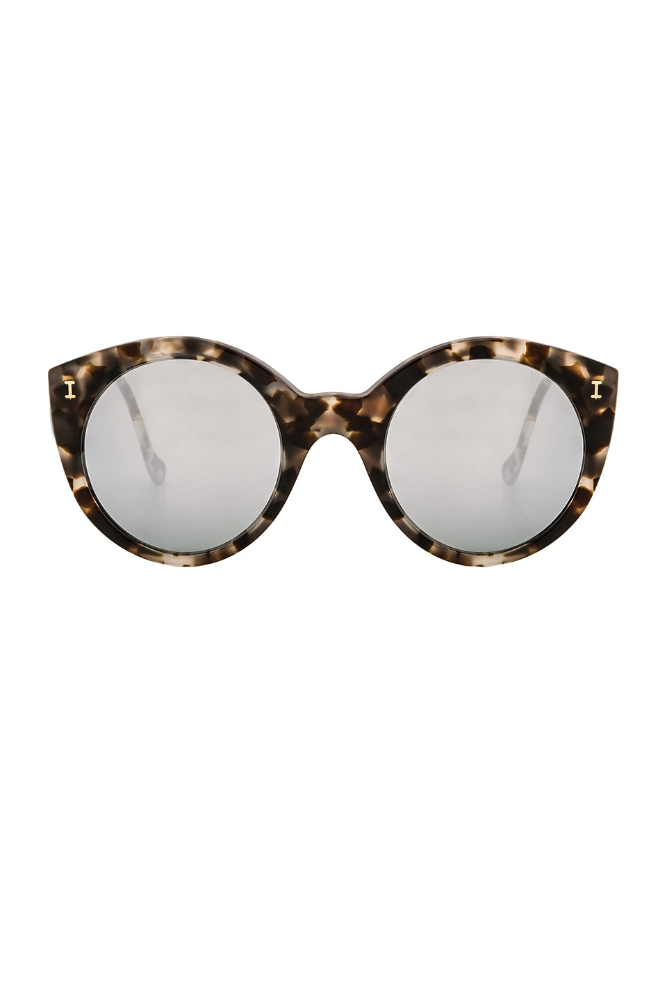 illesteva Palm Beach in White Tortoise & Silver Mirror