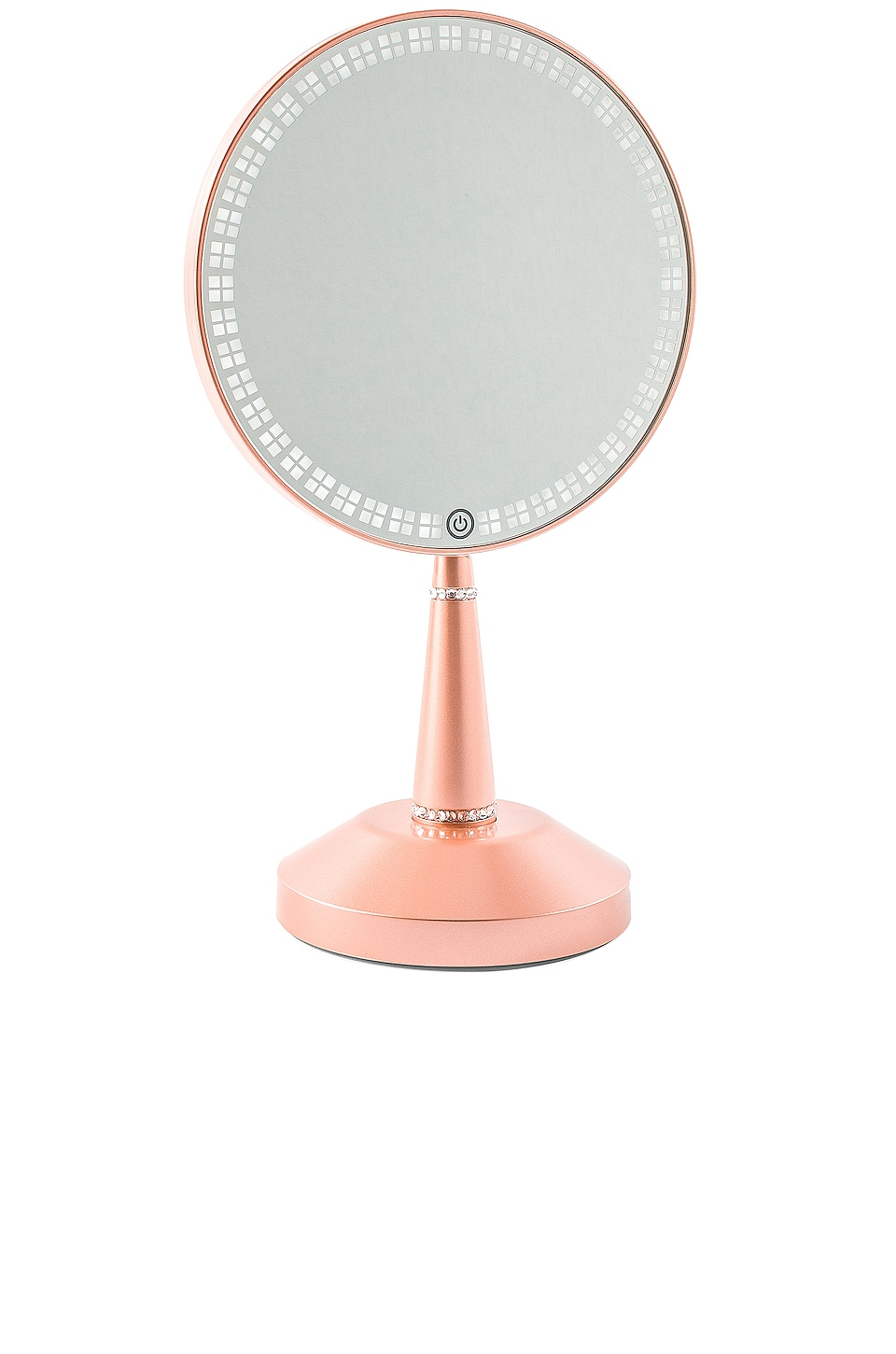 IMPRESSIONS VANITY Bijou Led Hand Mirror With Charging Stand in Metallic Copper