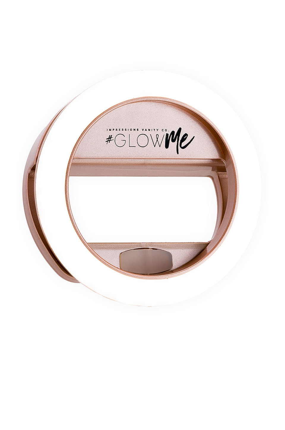 Impressions Vanity GlowMe 2.0 USB Rechargeable LED Selfie Ring Light in Rose Gold