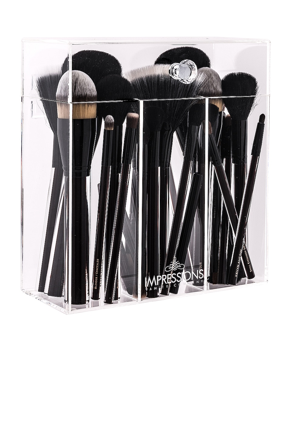 Impressions Vanity Diamond Collection Brush Holder in Clear