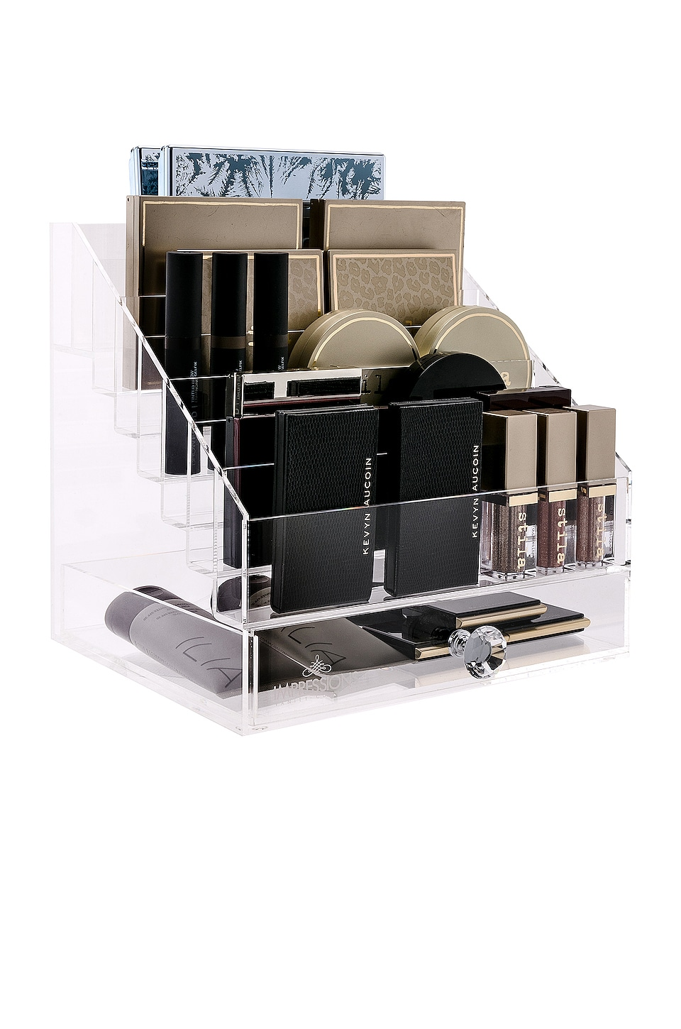 Impressions Vanity Diamond Collection Palette Organizer in Clear