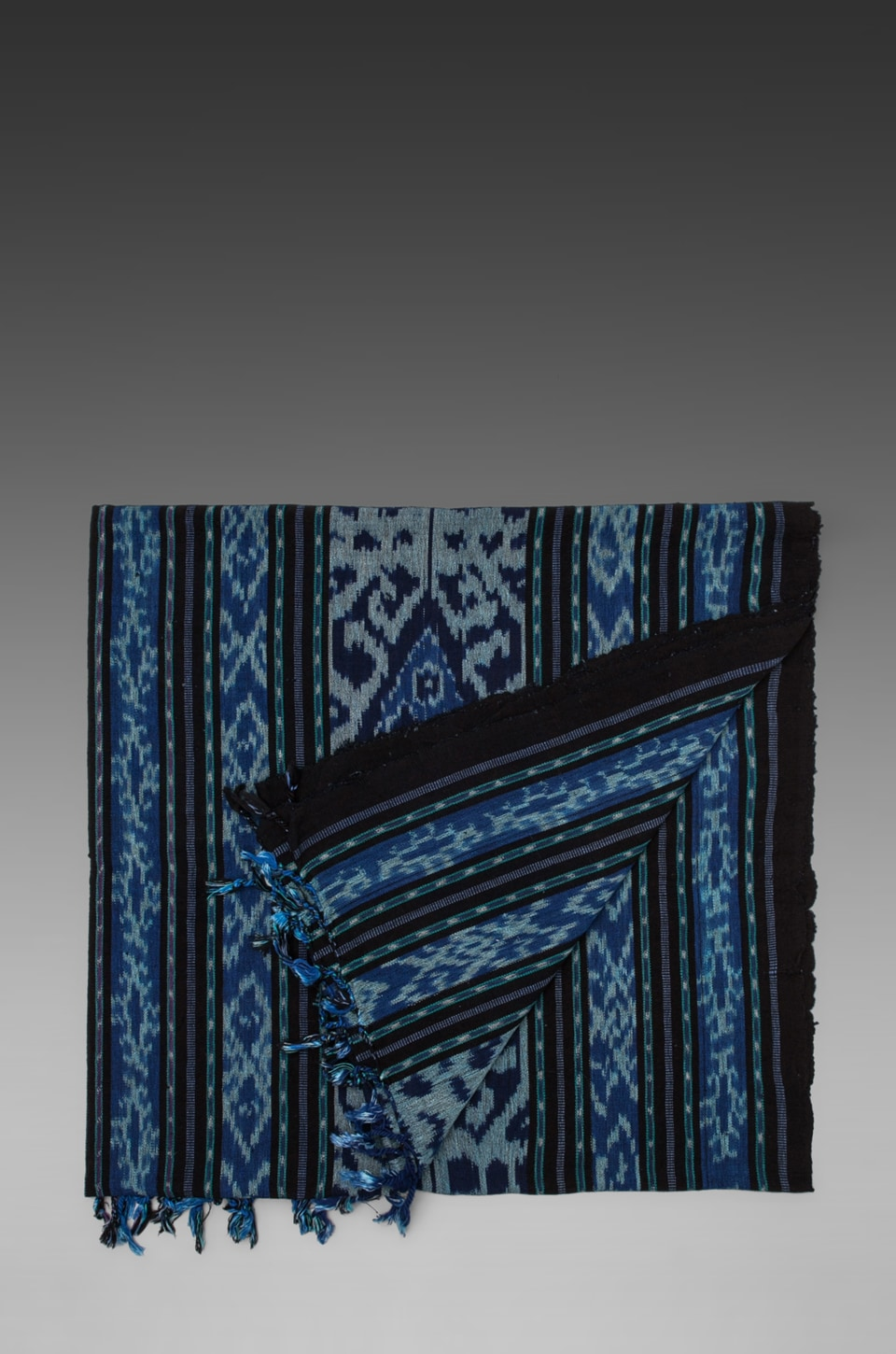 Indah Sumatra Hand Woven Beach Blanket in Blue